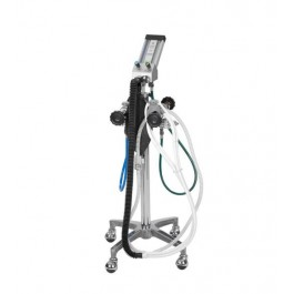 Belmed PC7 Flowmeter with 4-Tank Yoke Block and Mobile Stand